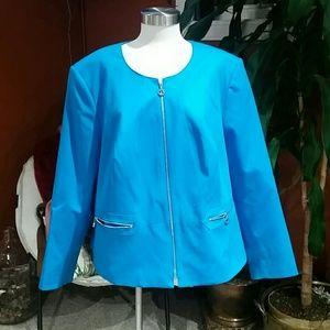 Calvin Klein turquoise blazer